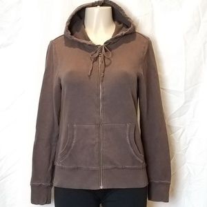 Old Navy Cocoa Brown Botton Hoodie